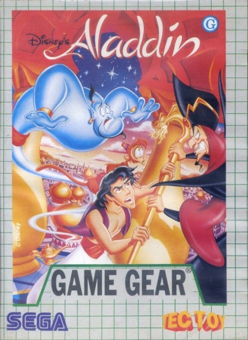 Front boxart of the game Aladdin (Brazil) on Sega Game Gear