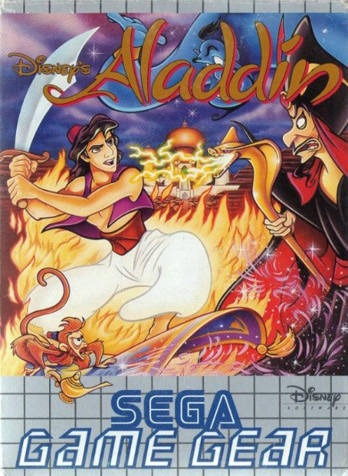 Front boxart of the game Aladdin (Europe) on Sega Game Gear