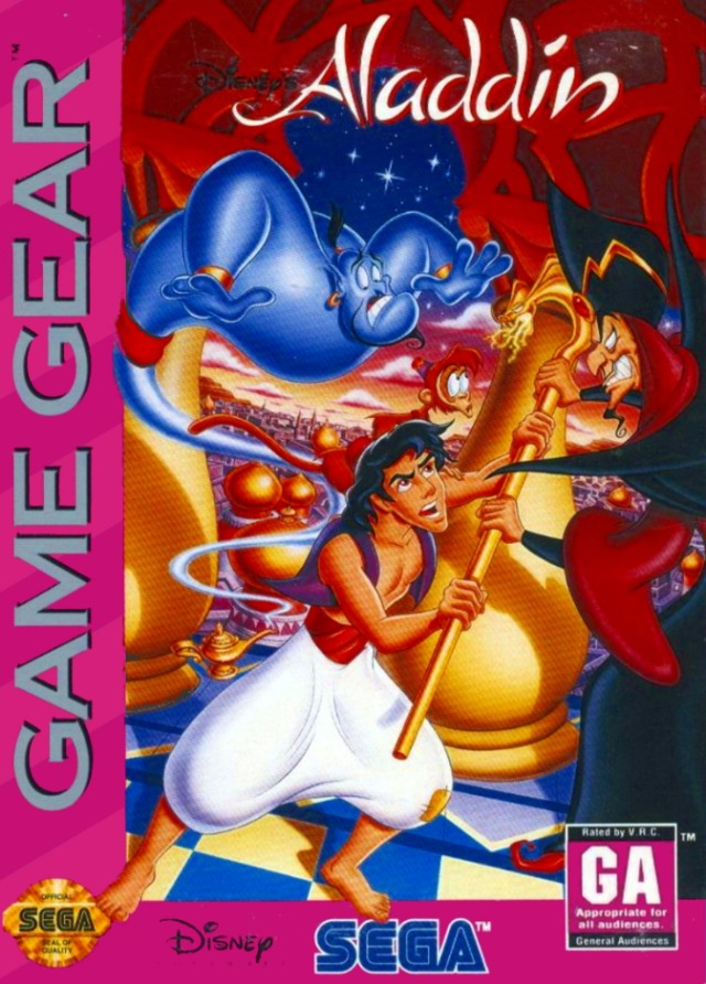 Front boxart of the game Aladdin (United States) on Sega Game Gear