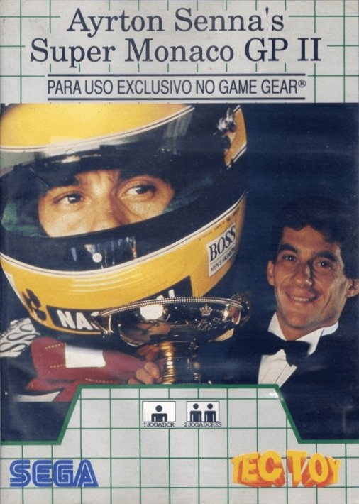 Front boxart of the game Ayrton Senna's Super Monaco GP II (Brazil) on Sega Game Gear