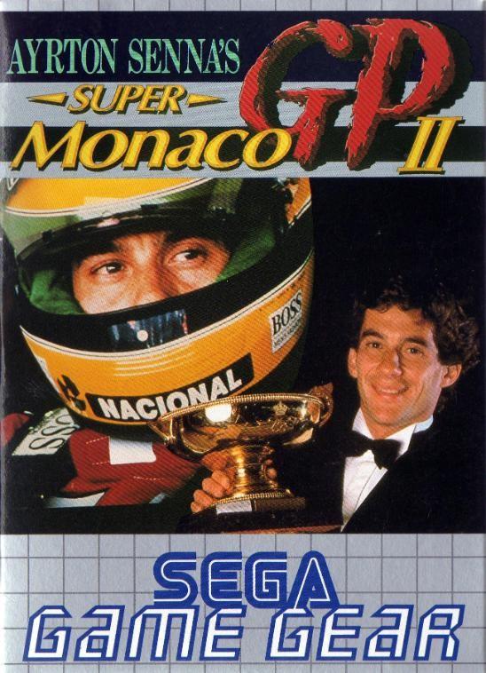 Front boxart of the game Ayrton Senna's Super Monaco GP II (Europe) on Sega Game Gear