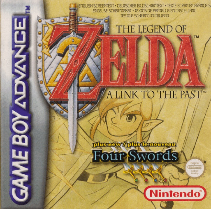 Front boxart of the game Legend of Zelda, The - A Link to the Past & Four Swords (Europe) on Nintendo GameBoy Advance