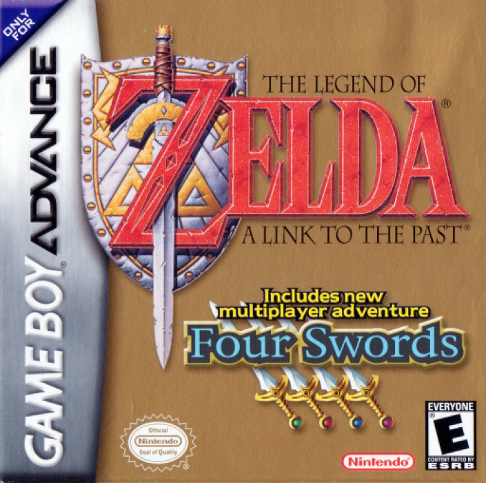 Front boxart of the game Legend of Zelda, The - A Link to the Past & Four Swords (United States) on Nintendo GameBoy Advance