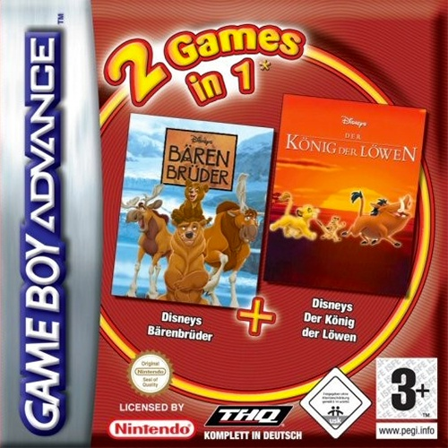 Front boxart of the game 2 Games in 1 - Brother Bear + The Lion King (Germany) on Nintendo GameBoy Advance