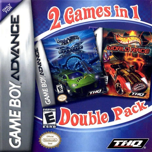 Front boxart of the game 2 Game Pack! - Hot Wheels - Stunt Track Challenge + Hot Wheels - World Race (United States) on Nintendo GameBoy Advance