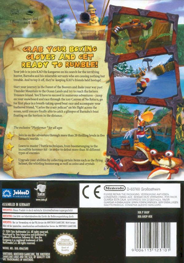 Kao the Kangaroo - Round 2 boxarts for Nintendo GameCube