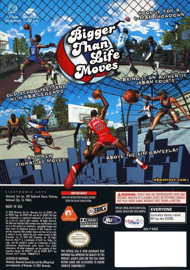 Back boxart of the game NBA Street Vol. 2 (United States) on Nintendo GameCube