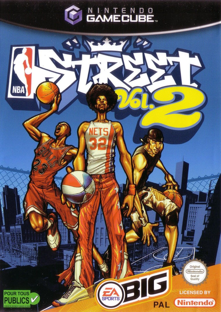 Front boxart of the game NBA Street Vol. 2 (Europe) on Nintendo GameCube