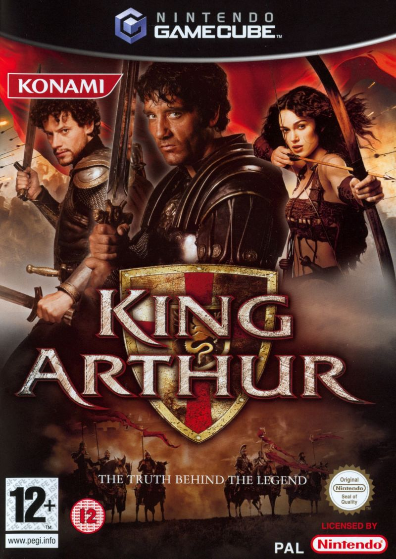 Front boxart of the game King Arthur (Europe) on Nintendo GameCube