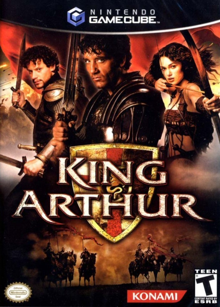 Front boxart of the game King Arthur (United States) on Nintendo GameCube