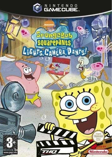 Front boxart of the game SpongeBob Squarepants - Licht uit, Camera aan! (Europe) on Nintendo GameCube
