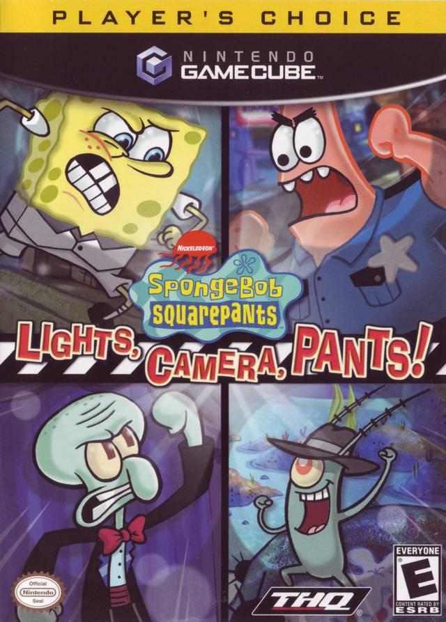Front boxart of the game SpongeBob SquarePants - Lights, Camera, Pants! (United States) on Nintendo GameCube