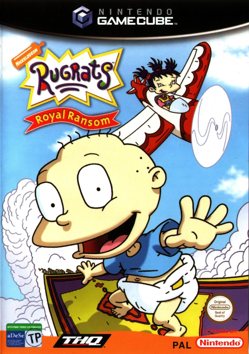 Front boxart of the game Rugrats - Royal Ransom (Europe) on Nintendo GameCube