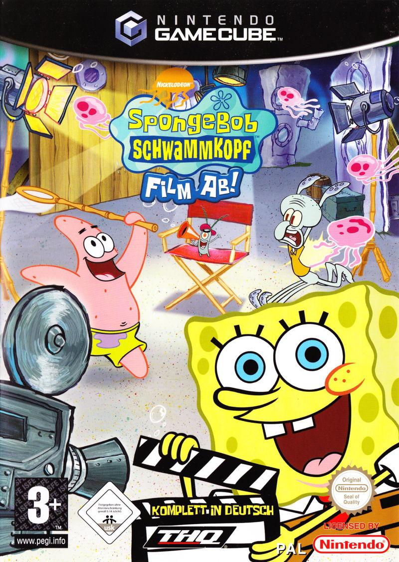 Front boxart of the game SpongeBob Schwammkopf - Film ab! (Germany) on Nintendo GameCube