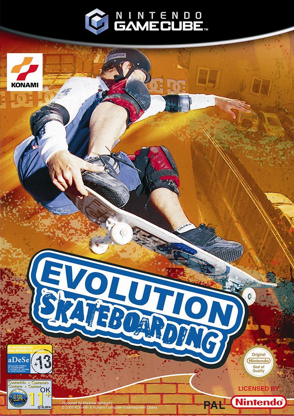 Front boxart of the game Evolution Skateboarding (Europe) on Nintendo GameCube