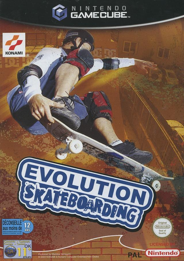 Front boxart of the game Evolution Skateboarding (France) on Nintendo GameCube