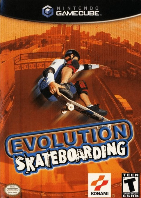 Front boxart of the game Evolution Skateboarding (United States) on Nintendo GameCube
