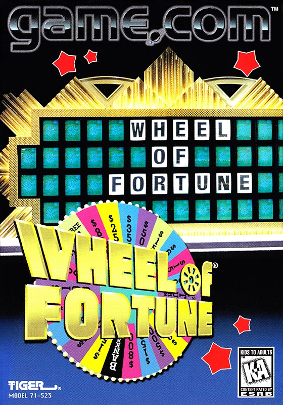 Front boxart of the game Wheel of Fortune (United States) on Tiger Game.com
