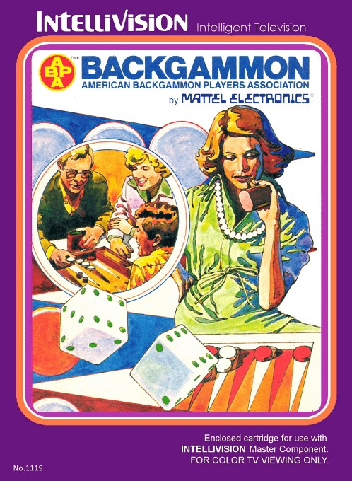 Front boxart of the game ABPA Backgammon on Mattel Intellivision