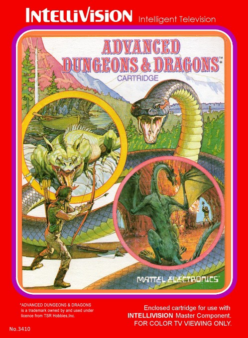 Front boxart of the game Advanced Dungeons and Dragons on Mattel Intellivision