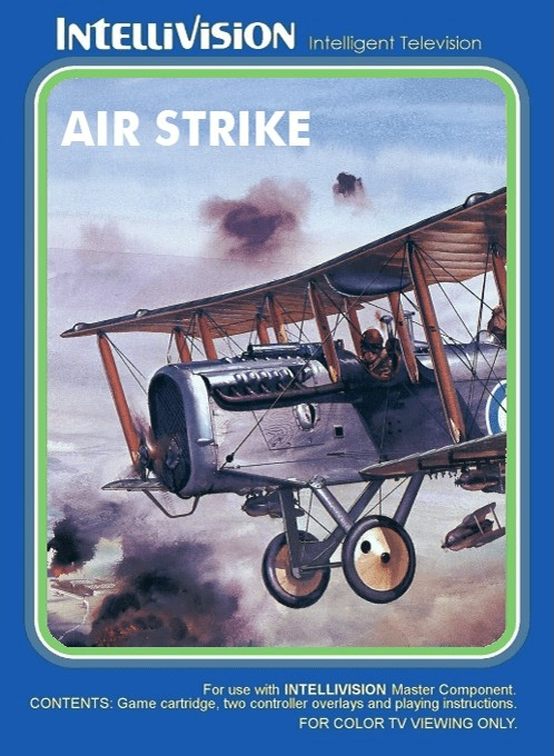 Front boxart of the game Air Strike on Mattel Intellivision