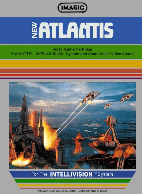 Front boxart of the game Atlantis on Mattel Intellivision