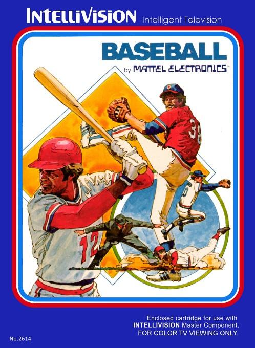 Front boxart of the game Baseball on Mattel Intellivision
