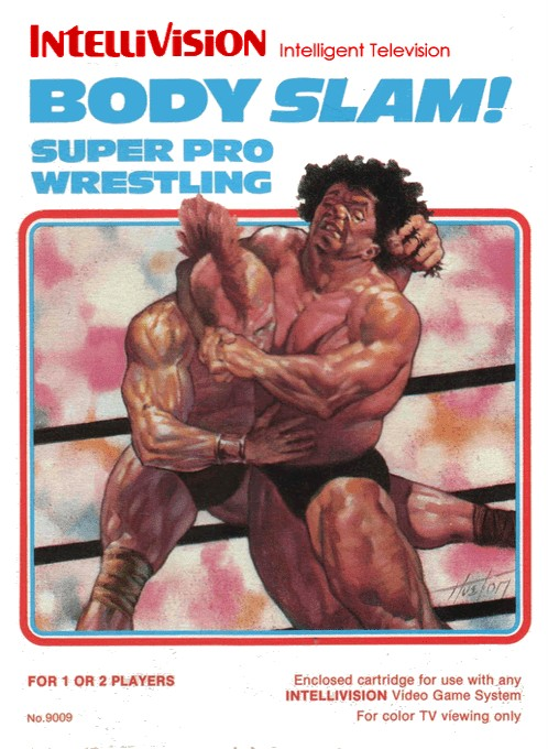 Front boxart of the game Body Slam - Super Pro Wrestling on Mattel Intellivision