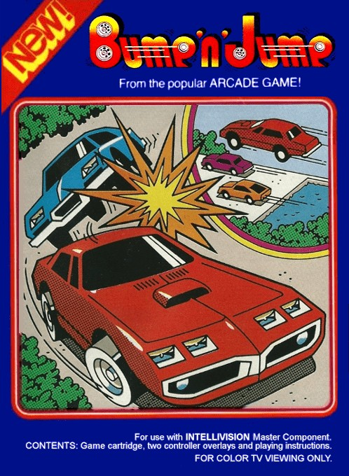 Front boxart of the game Bump 'N' Jump on Mattel Intellivision