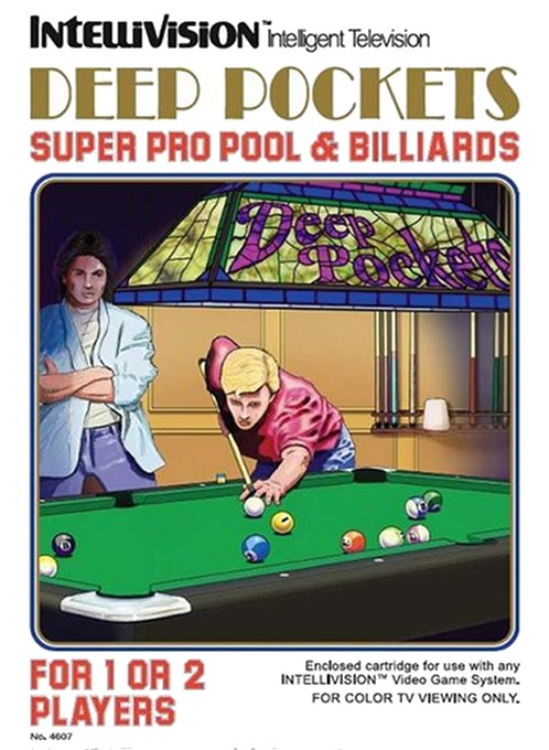 Front boxart of the game Deep Pockets-Super Pro Pool and Billiards on Mattel Intellivision