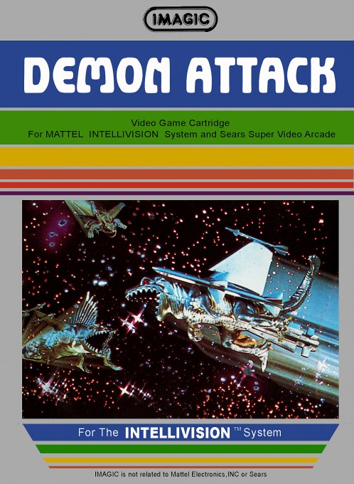 Front boxart of the game Demon Attack on Mattel Intellivision