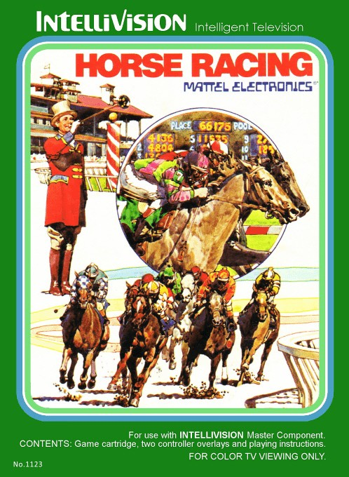 Front boxart of the game Horse Racing on Mattel Intellivision