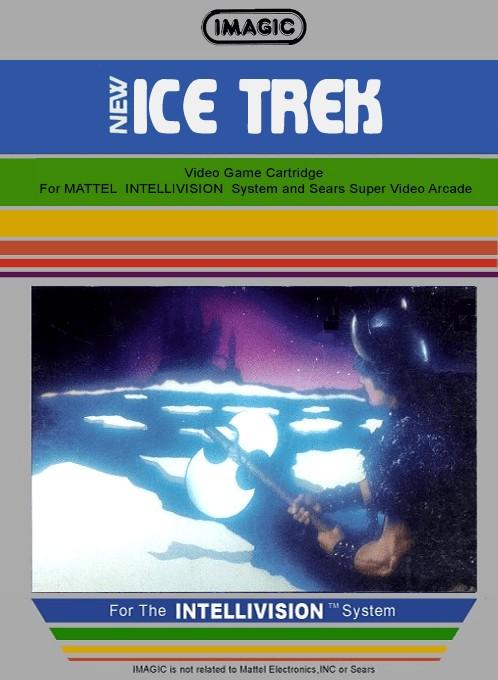 Front boxart of the game Ice Trek on Mattel Intellivision