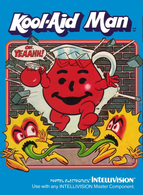Front boxart of the game Kool-Aid Man on Mattel Intellivision