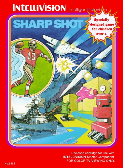 Front boxart of the game Sharp Shot on Mattel Intellivision