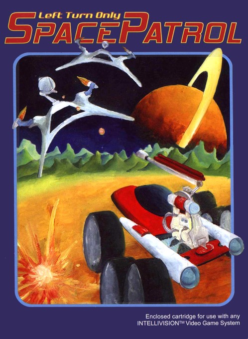 Front boxart of the game Space Armada on Mattel Intellivision