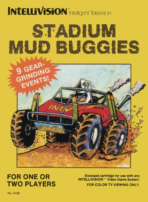 Front boxart of the game Stadium Mud Buggies on Mattel Intellivision