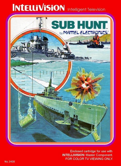 Front boxart of the game Sub Hunt on Mattel Intellivision