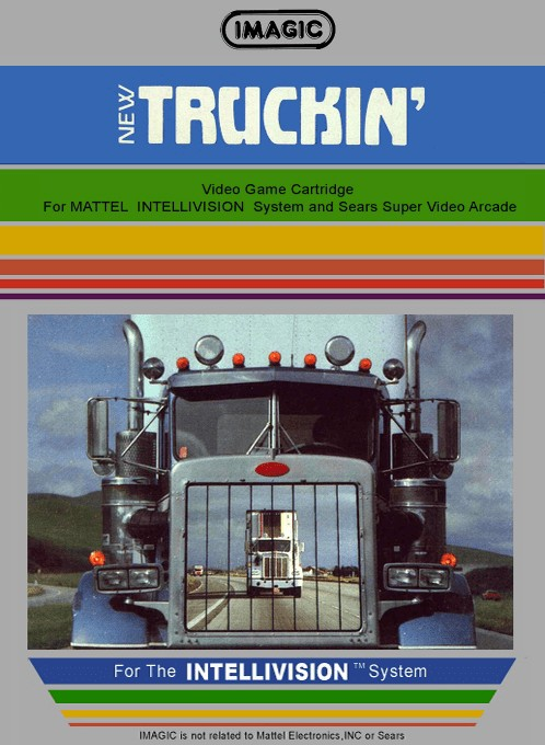 Front boxart of the game Truckin' on Mattel Intellivision