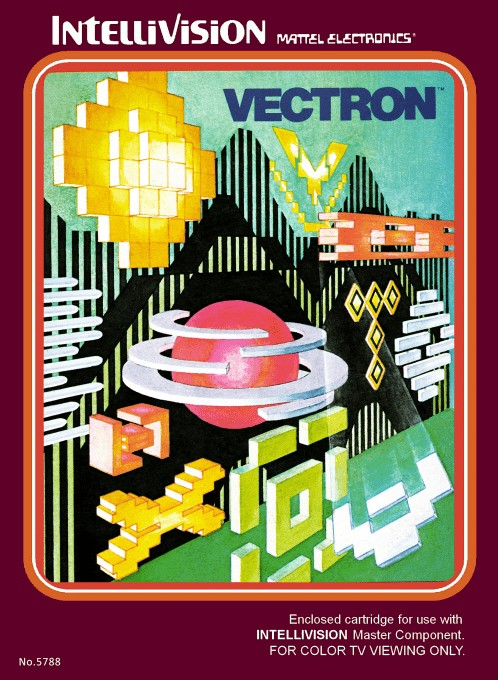 Front boxart of the game Vectron on Mattel Intellivision