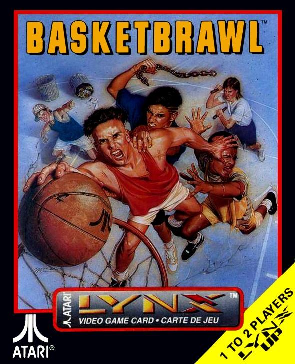 Front boxart of the game Basketbrawl (United States) on Atari Lynx