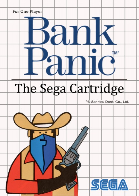 Front boxart of the game Bank Panic (Europe) on Sega Master System