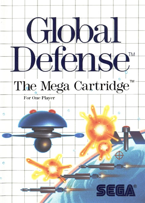 Front boxart of the game Global Defense (Europe) on Sega Master System