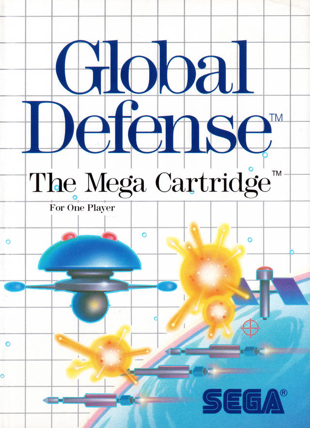 Front boxart of the game Global Defense (United States) on Sega Master System