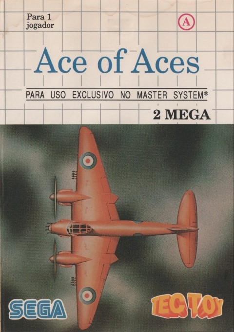 Front boxart of the game Ace of Aces (Brazil) on Sega Master System