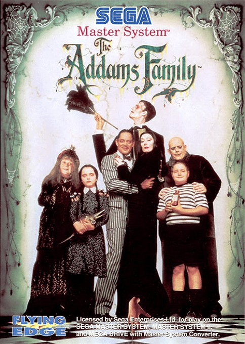 Front boxart of the game Addams Family, The (Europe) on Sega Master System