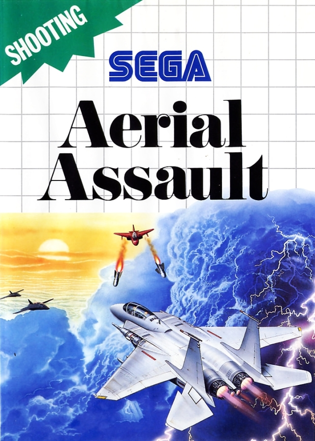 Front boxart of the game Aerial Assault (Europe) on Sega Master System