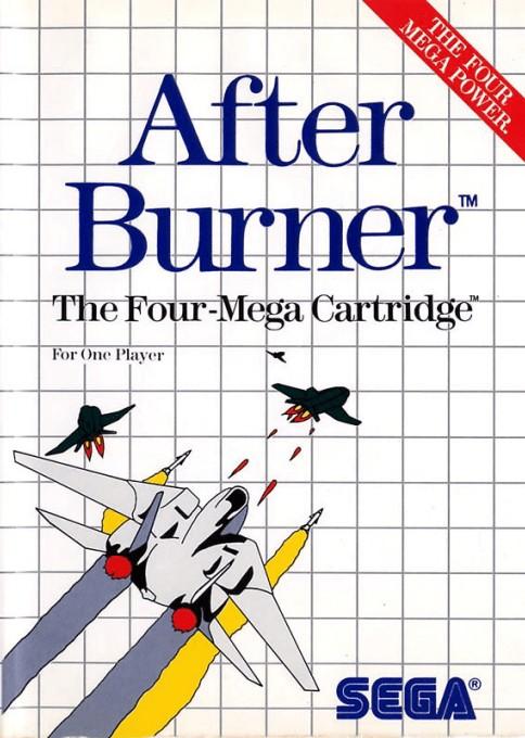 Front boxart of the game After Burner (Europe) on Sega Master System