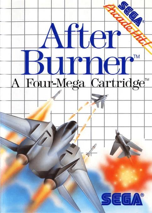 Front boxart of the game After Burner (United States) on Sega Master System