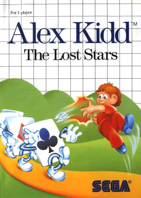 Front boxart of the game Alex Kidd - The Lost Stars (Europe) on Sega Master System